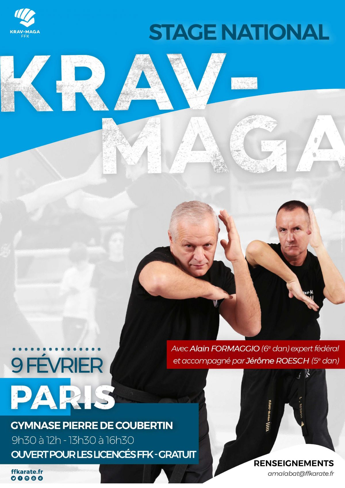 photo Krav Maga Spirit - stage krav maga FFKDA Paris